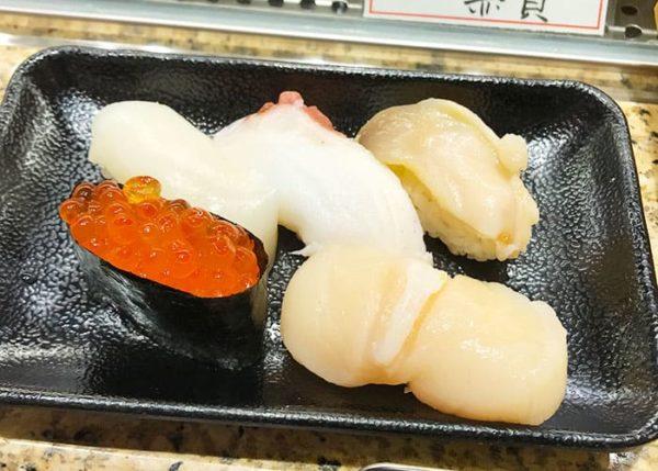 函館 立喰い寿司 函太郎 店長いち押し 北海5種盛り