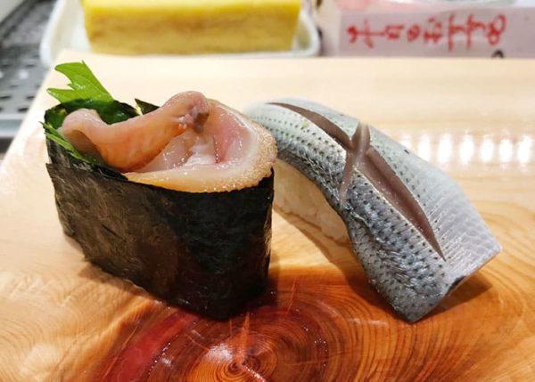函館 立喰い寿司 函太郎 こはだ 赤貝ひも