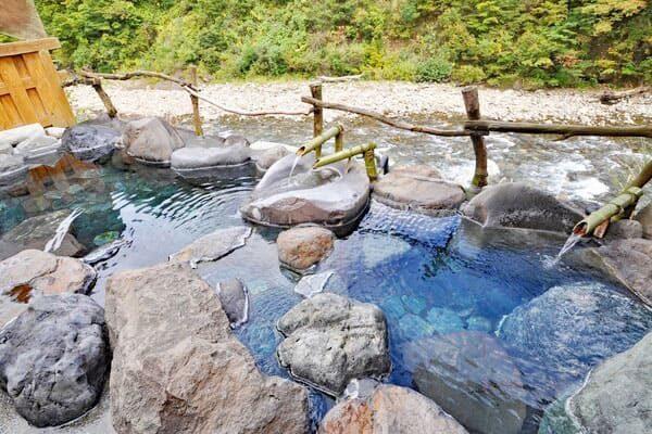 新潟 清津峡湯元温泉 清津館 宿泊者専用 貸切 露天風呂 清泉の湯