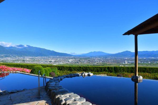 山梨 みはらしの丘 みたまの湯 夜景100選 日本夜景遺産 絶景露天風呂