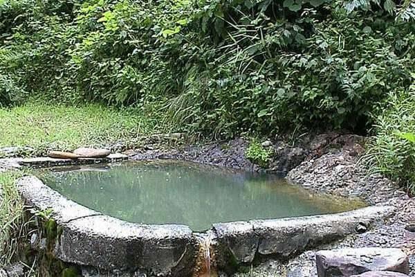 山形 野天 露天風呂 混浴 石抱温泉