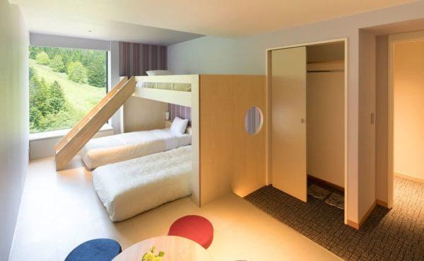 北海道 星野リゾート リゾナーレトマム 客室 副寝室 2段ベッド
