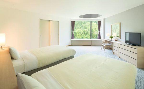 北海道 星野リゾート リゾナーレトマム 客室 主寝室 セミダブル