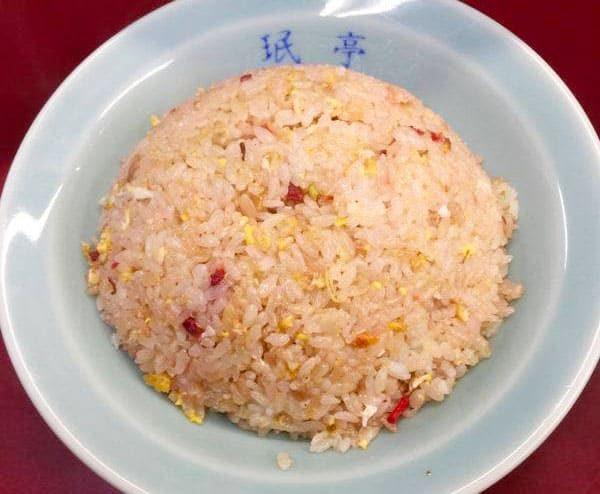 下北沢 珉亭 赤い炒飯