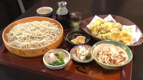 熊本 創作手打ちそば 宝処三昧 まいたけ天ぷら膳