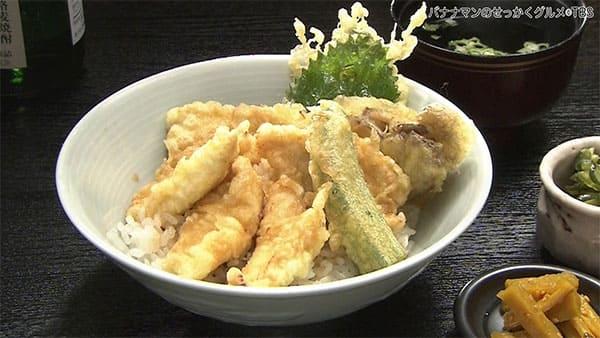 バナナマンのせっかくグルメ 長野県 松本市 もっきんどう 鶏天丼