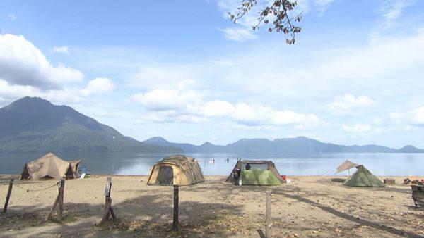 支笏湖 美笛キャンプ場