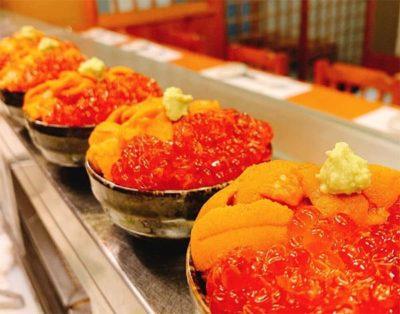 帰れマンデー 寿司歩き 箱根 はこねずし ミニウニいくら丼