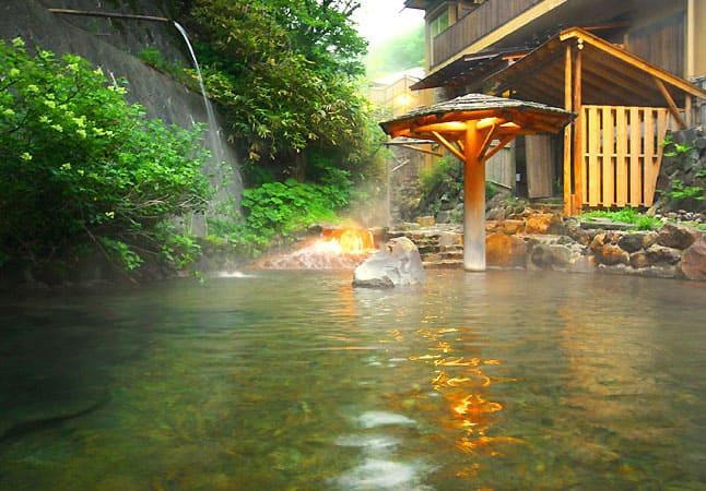 那須高原 大丸温泉旅館 秘湯 川の湯 露天風呂