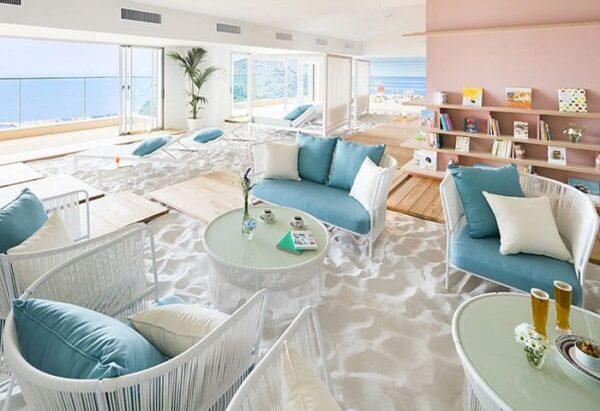 星野リゾート リゾナーレ熱海 ソラノビーチ Books&Cafe