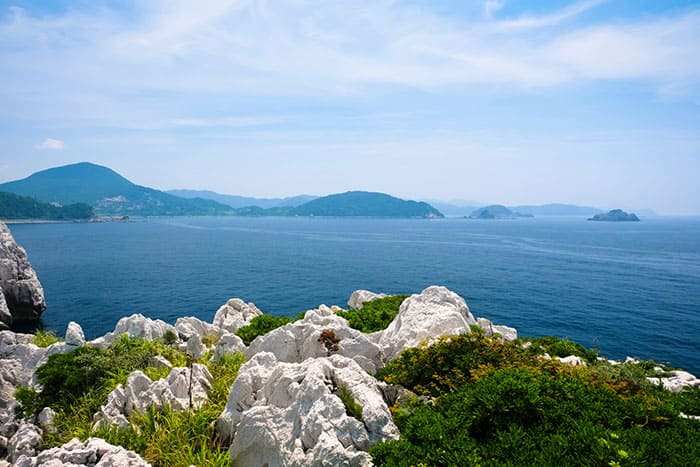 和歌山 東洋のエーゲ海 白崎海岸 白崎海洋公園