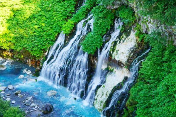 北海道 美瑛 白ひげの滝