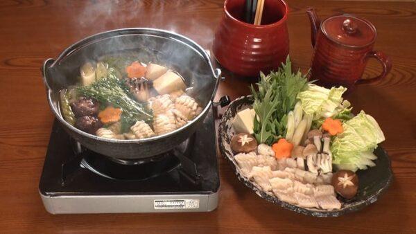 旅サラダ コレうま 福岡 宗像 とんこや 鐘崎産の穴子鍋