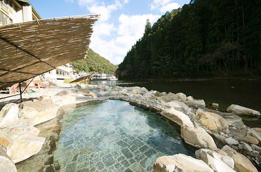 和歌山 川湯温泉 山水館 川湯みどりや 露天風呂