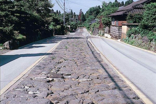 大分 肥後街道 今井石畳