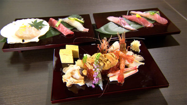 函館湯の川温泉 海と灯 鮨会席 くもなみ