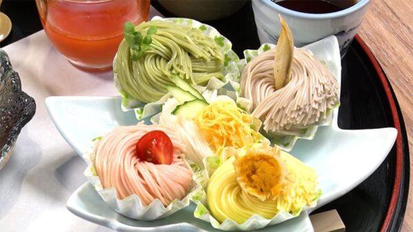 奈良 桜井市 池利三輪素麵茶屋 千寿亭 和牛と彩り素麺